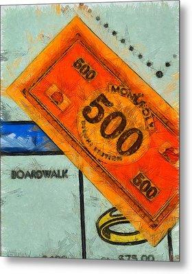 Monopoly Money Metal Print by Dan Sproul