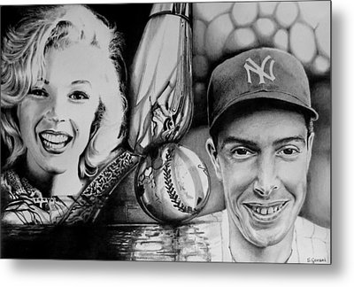 Monroe And Dimaggio Metal Print
