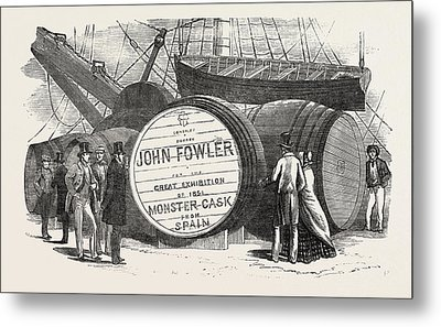 Monster Casks Of Sherry In The London Docks Metal Print by English School