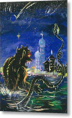Monster In The City Metal Print by Amberlyn How