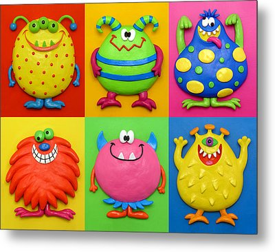 Monsters Metal Print by Amy Vangsgard