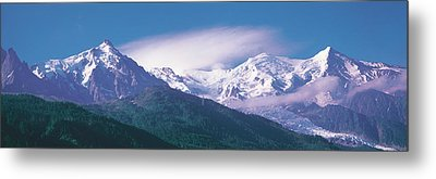 Mont Blanc France Metal Print by Panoramic Images