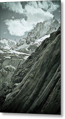 Mont Blanc Glacier Metal Print by Frank Tschakert
