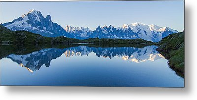 Mont Blanc Massif Panorama Metal Print by Mircea Costina Photography