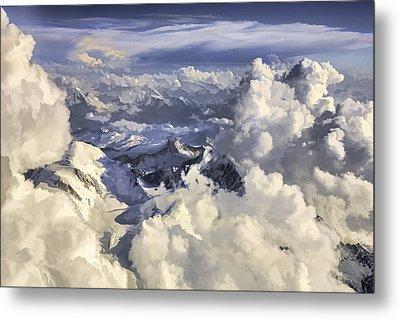 Metal Print featuring the painting Mont Blanc by Muhie Kanawati