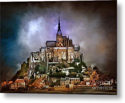 Mont Saint Michel   Metal Print by Andrzej Szczerski