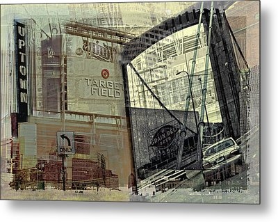 Montage Of Minneapolis Metal Print