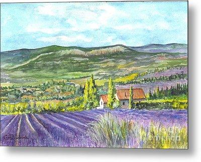 Montagne De Lure En Provence Metal Print by Carol Wisniewski
