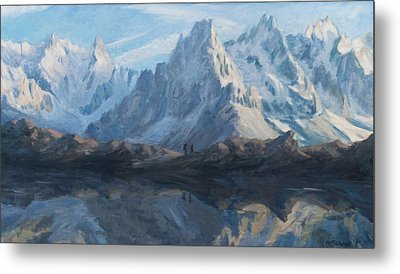Montain Mirror Metal Print by Marco Busoni