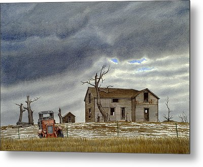 Montana Abandoned Homestead Metal Print by Paul Krapf
