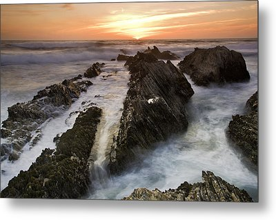 Montana De Oro Sunset 1 Metal Print