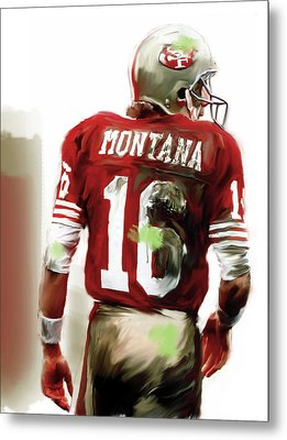 Montana II  Joe Montana Metal Print by Iconic Images Art Gallery David Pucciarelli