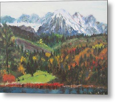 Montana Mountains In The Fall Metal Print