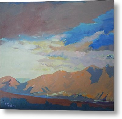 Metal Print featuring the painting Montana Storm by Francine Frank