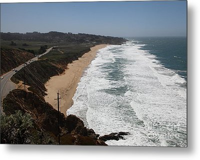 Montara State Beach Pacific Coast Highway California 5d22621 Metal Print by Wingsdomain Art and Photography