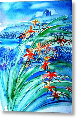 Montbretia On Inisheer  Metal Print by Trudi Doyle
