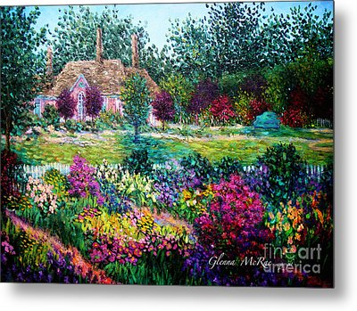 Montclair English Garden Metal Print by Glenna McRae