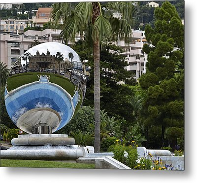 Metal Print featuring the photograph Monte Carlo Casino In Reflection by Allen Sheffield