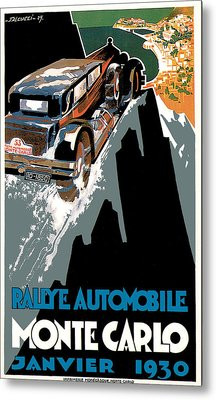 Monte Carlo - Vintage Poster Metal Print by World Art Prints And Designs