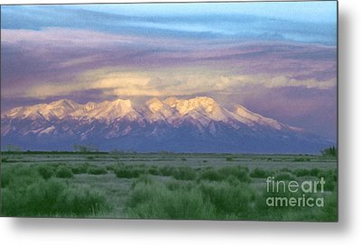 Metal Print featuring the painting Monte Vista Sunrise 1 by Teri Atkins Brown