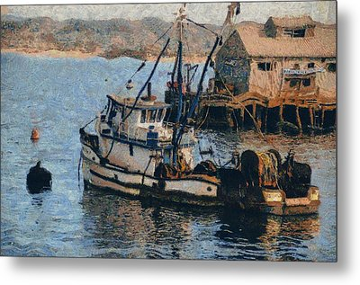 Monterey Fish Company Abstract Metal Print by Barbara Snyder