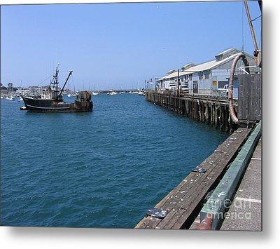 Monterey Municipal Wharf Metal Print by James B Toy