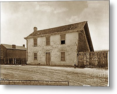 Monterey Whaling Station Circa 1895 Metal Print by California Views Mr Pat Hathaway Archives