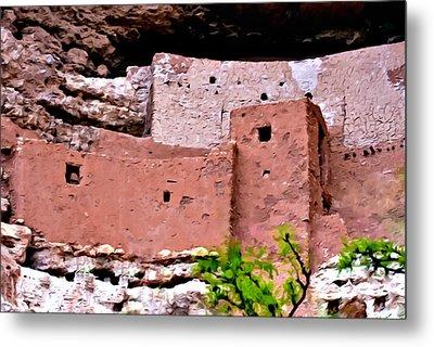 Montezuma Castle  Metal Print by Bob and Nadine Johnston