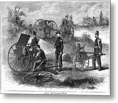 Montigny Mitrailleuse Rapid Fire Gun Metal Print by Universal History Archive/uig