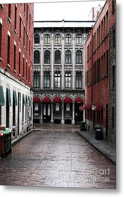 Montreal Alley Metal Print by John Rizzuto