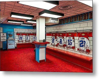 Montreal Canadians Hall Of Fame Locker Room Metal Print by Boris Mordukhayev