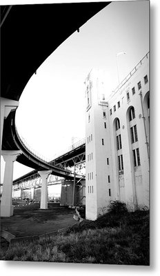 Montreal Harbour Bridge Casino Metal Print by Eric Soucy