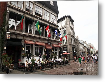Montreal Lunch Metal Print by John Rizzuto