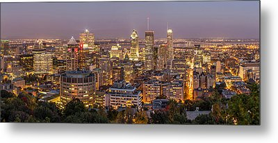 Montreal Skyline At Night Metal Print by Pierre Leclerc Photography