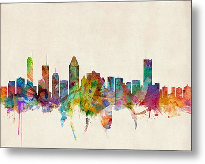 Montreal Skyline Metal Print by Michael Tompsett