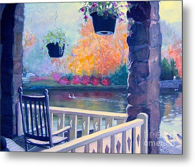 Montreat Porch Metal Print
