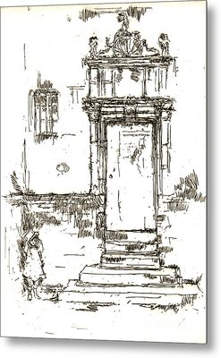 Montresor Chapel Doorway 1840 Metal Print by Padre Art