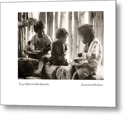 Metal Print featuring the photograph Monueles Children by Tina Manley