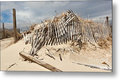 Monument At The Beach Metal Print by Michelle Wiarda