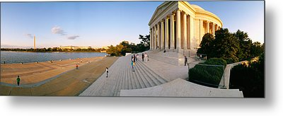 Monument At The Riverside, Jefferson Metal Print by Panoramic Images
