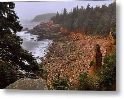 Monument Cove - Acadia Metal Print by Stephen  Vecchiotti