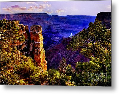 Monument To Grand Canyon  Metal Print by Bob and Nadine Johnston