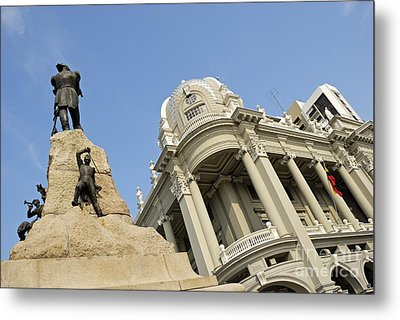 Monument To Mariscal Sucre Metal Print by Sami Sarkis