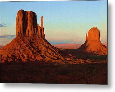 Monument Valley 2 Metal Print by Ayse Deniz