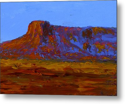 Monument Valley At Sunset Metal Print by Fred Wilson