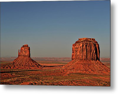 Monument Valley - East Mitten And Merrick Butte Metal Print by Christine Till