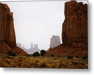 Monument Valley Mist Metal Print
