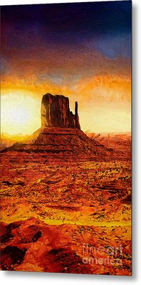 Monument Valley Metal Print by Mo T