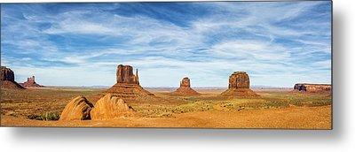 Monument Valley Panorama - Arizona Metal Print