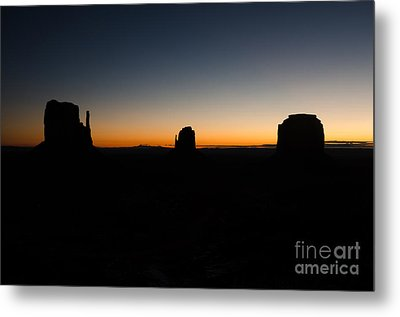 Metal Print featuring the photograph Monument Valley Sunrise by Jeff Kolker